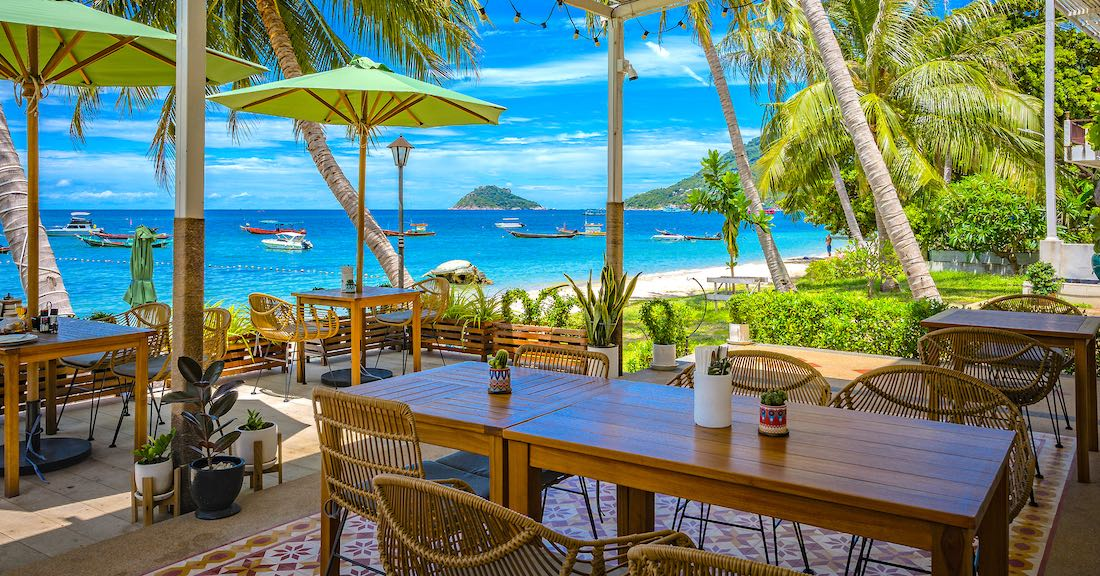 Black Turtle Dive Beach Restaurants Koh Tao