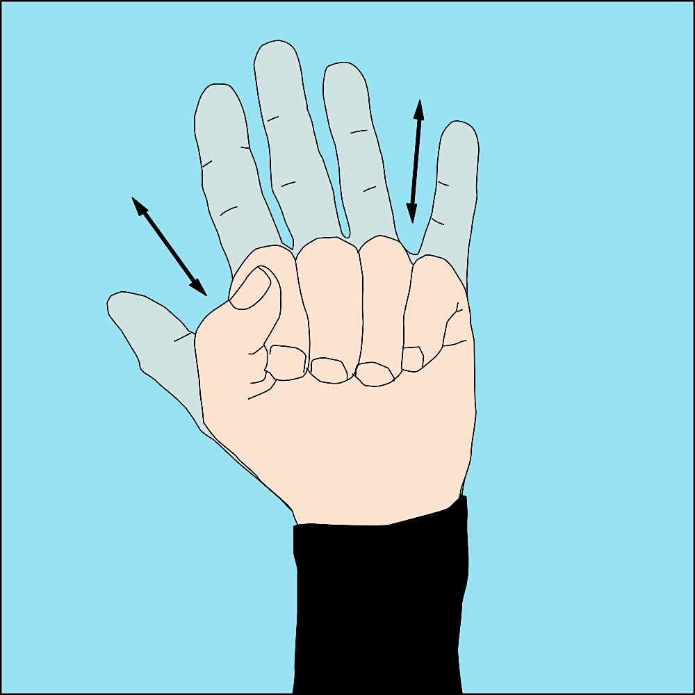 Scuba Diving Hand Signals - Cramp