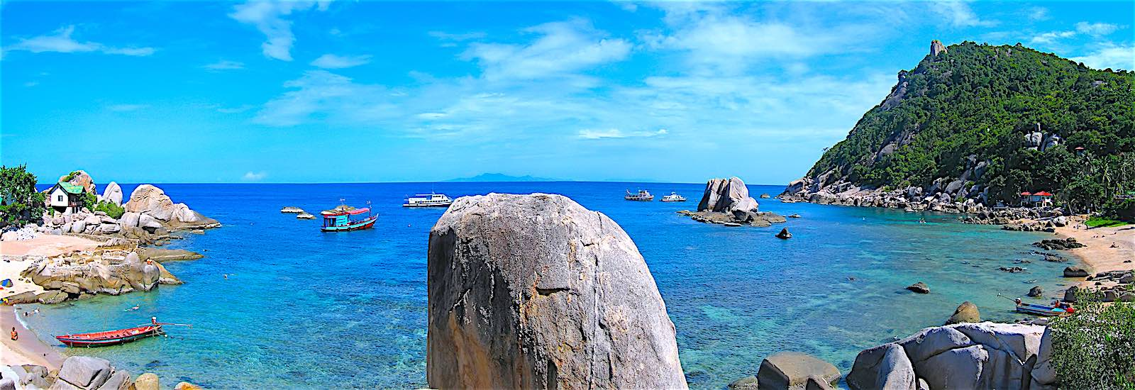 Tanote Beach & Bay Koh Tao Panoramic View
