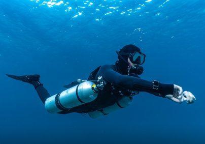Sidemount Diver Koh Tao